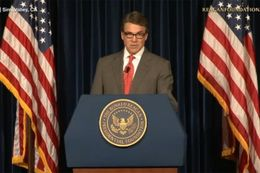 Texas Gov. Rick Perry spoke at the Ronald Reagan Presidential Foundation and Library on Oct. 27, 2014.