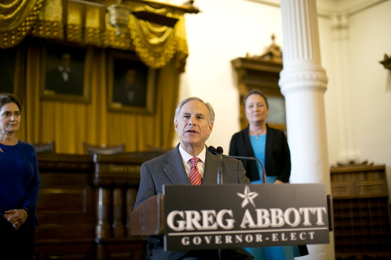 During a news conference on Nov. 11, 2014, Gov.-elect Greg Abbott announced that he's appointing Cameron County Judge Carlos Casco as the next Texas secretary of state.