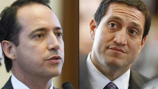 State Reps. José Menéndez (left) and Trey Martinez Fischer, both Democrats from San Antonio, are seeking the Texas Senate seat vacated by Leticia Van de Putte, who is running for mayor of San Antonio.