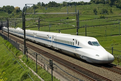 Japan Central's N700 high speed train, the same train that a private firm wants to bring to Texas.