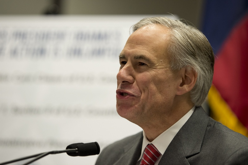 Greg Abbott at a Nov. 24, 2014, press event on President Obama's executive action on immigration.