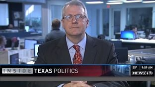 "Texas Tribune Executive Editor Ross Ramsey on WFAA-TV's ""Inside Texas Politics"" on Dec. 7, 2014."