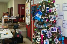A temporary immigrant shelter set up last summer has seen Christmas arrive, and the people are still coming.