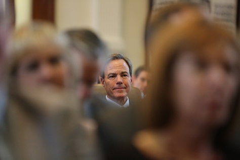 Texas House Speaker Joe Straus listened to a Jan. 13, 2015, speech by a fellow member nominating him for another term as speaker.