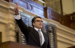 Gov. Perry gives his farewell speech during a joint session of the Texas Legislature on January 15th, 2015