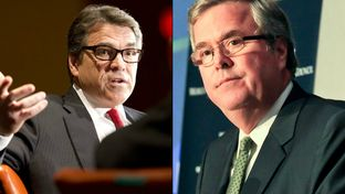 Former Texas Gov. Rick Perry and former Florida Gov. Jeb Bush