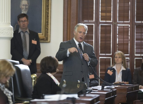 "Sen. Kirk Watson, D-Austin, debates changes that would affect the so-called ""two-thirds rule"" in the Texas Senate on Jan. 21, 2015."