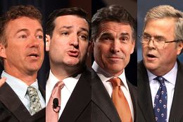 Rand Paul, Ted Cruz, Rick Perry, Jeb Bush