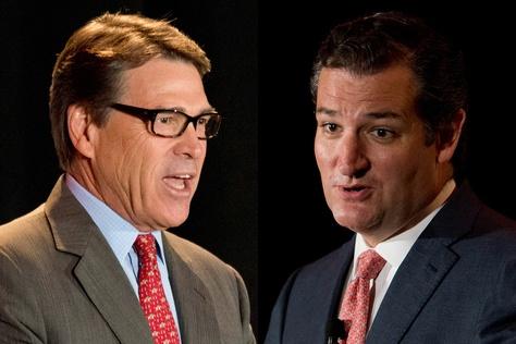 Former Gov. Rick Perry and U.S. Sen. Ted Cruz
