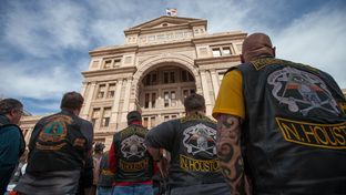 Bikers from all over Texas came to the Capitol to lobby their representatives for their causes, Jan. 26, 2015.
