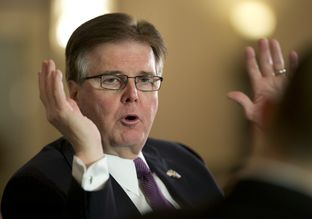 New Lt. Gov. Dan Patrick emphasizes school choice as one of his top legislative priorities at a Texas Tribune event on Jan. 27, 2015.