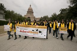 A school choice rally, part of National School Choice Week, drew advocates to the Texas Capitol in Austin on Jan. 30, 2015.