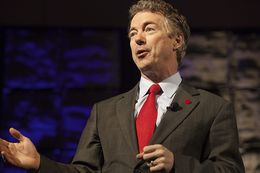 """U.S. Sen. Rand Paul delivers the keynote speech at the Dallas GOP """"Reagan Day"""" event on Friday, January 30, 2015."""