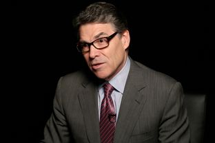 Former Texas Gov. Rick Perry in a video interview in Washington, D.C., on Feb. 5, 2015.