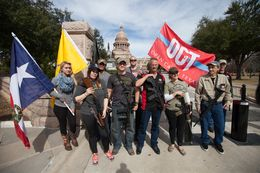 Members of Open Carry Texas at the state Capitol on Jan. 26, 2015.