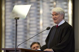 Texas Chief Justice Nathan Hecht delivered a State of the Judiciary speech to the Texas Legislature on Feb. 18, 2015.