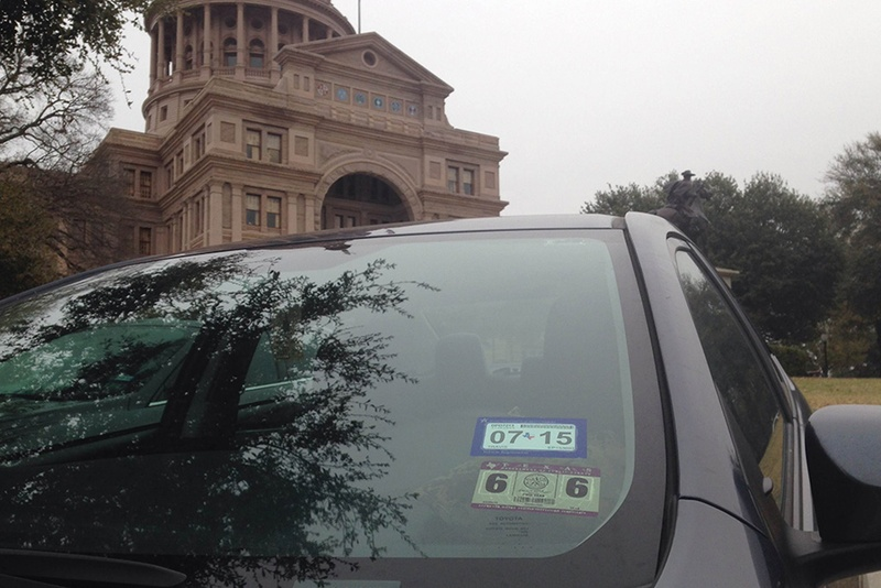 Inspection stickers will begin disappearing from Texas vehicles when the state rolls out a new single-sticker program for inspection and registration on March 1, 2015.