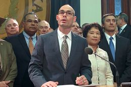 State Rep. Dennis Bonnen, R-Angleton, discusses his border security bill.