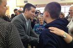 Sen. Ted Cruz campaigns in a Barrington, N.H. manufacturing plant.