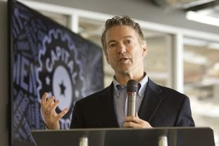 U.S. Sen. Rand Paul, R-Ky., speaks at the opening of his Austin office at downtown startup incubator incubator Capital Factory on March 16, 2015.