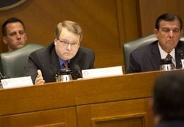 Sen. Brian Birdwell R-Grandbury speaks during a March 16th, 2015 Senate Subcommittee on border security