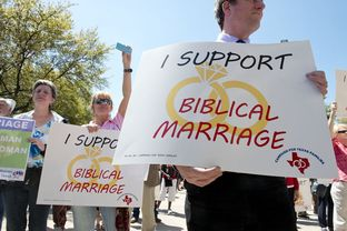 Advocates gathered outside the Texas Capitol on March 23 to rally in support of the state's ban on same-sex marriage.