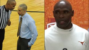 New UT-Austin basketball coach Shaka Smart (left) and UT football coach Charlie Strong.