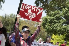 Texas Tax Day Tea Party Rally at the Texas Capitol on April 15, 2015.