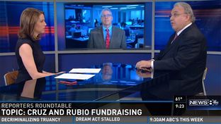 "Tribune Executive editor Ross Ramsey on WFAA's ""Inside Texas Politics"" on April 19, 2015."