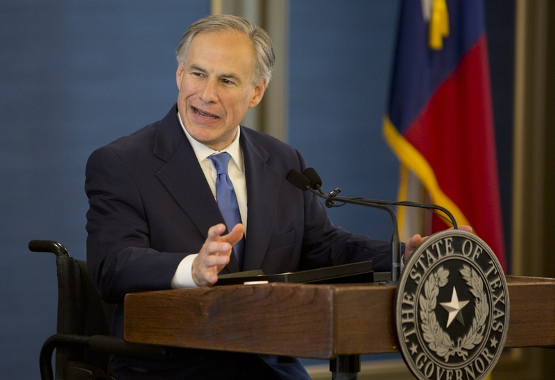 Gov. Greg Abbott spoke during the grand opening of the Texas Public Policy Foundation's new building on April 21, 2015.