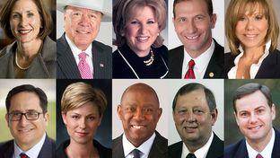 "Sens. Lois Kolkhorst, Juan ""Chuy"" Hinojosa, Jane Nelson, Charles Schwertner, Joan Huffman and Reps. Larry Gonzales, Sarah Davis, Sylvester Turner, John Otto and Trent Ashby make up the 2015 budget conference committee."