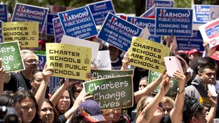 Advocates showed their support for charter schools during an April 29, 2015, rally at the Texas Capitol.