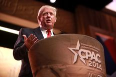 Real estate mogul and potential presidential candidate Donald Trump speaks at CPAC 2014 in National Harbor, Md. on March 6, 2014.