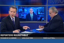 Texas Tribune Executive Editor Ross Ramsey on WFAA's Inside Texas Politics on May 3, 2015.