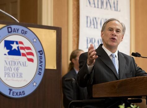 Gov. Greg Abbott at the annual Texas State Prayer Breakfast on May 4, 2015.