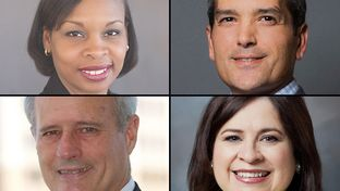 The four leading contenders for San Antonio mayor (clockwise from upper left): Ivy Taylor, Mike Villarreal, Leticia Van de Putte and Tommy Adkisson
