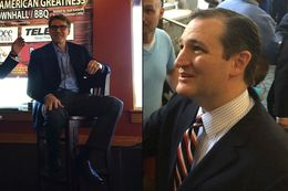 Former Gov. Rick Perry and U.S. Sen. Ted Cruz stumping in South Carolina, an early primary state, on May 8 and 9, 2015.
