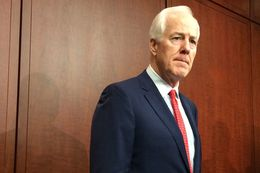 U.S. Sen. John Cornyn, the Senate Majority Whip, holds a press conference at the U.S. Capitol on Tuesday, May 12.