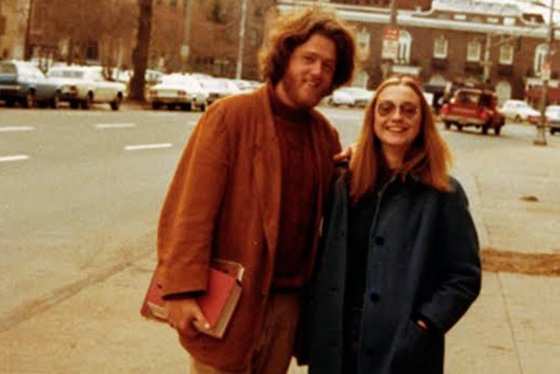 This photo, courtesy of the William J. Clinton Presidential Library's Clinton Historical Collection, shows Bill Clinton and Hillary Rodham in New Haven, Conn., in 1972.