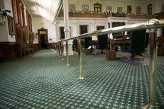 Empty Senate chamber on June 1, 2015