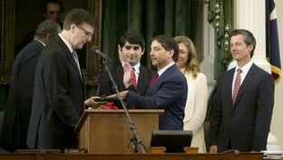 Sen. Kevin Eltife R-Tyler is sworn in as President pro tempore of the Texas Senate on June 1, 2015