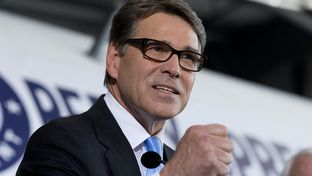 Former Gov. Rick Perry announces his intentions to run for president in 2016 on June 4, 2015, at the Addison Airport.