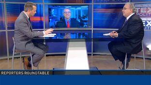 (L-R) Host Jason Whitely, Tribune Executive Editor Ross Ramsey and the Fort Worth Star-Telegram's Bud Kennedy on WFAA-TV's Inside Texas Politics on June 7, 2015.
