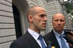Scott Keller, the Texas Solicitor General, speaks to reporters after delivering oral arguments before the U.S. Court of Appeals for the Fifth Circuit in New Orleans.