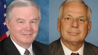 U.S. Rep. Joe Barton, R-Ennis, and U.S. Rep. Gene Green, D-Houston.