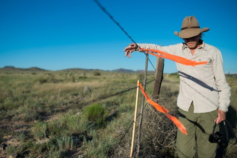David Keller, an archaeologist at Sul Ross State University and head of the Big Bend Conservation Alliance, looks out over land in Brewster County, near the site of a planned pipeline that would send Texas gas to Mexico.