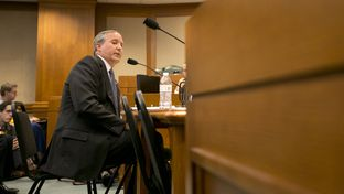 Texas Attorney General Ken Paxton testifies in front of the Senate Committee on Health and Human Services regarding an ongoing investigation into Planned Parenthood's practices on July 29, 2015