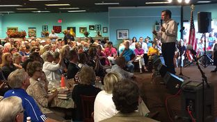 "U.S. Sen. Ted Cruz, R-Texas, speaks Tuesday in Olive Branch, Mississippi. The 2016 presidential candidate was visiting the area as part of a weeklong swing through seven southern states expected to make up the so-called ""SEC primary"" on March 1, 2016."