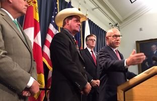 Se. John Whitmire at press conference on Aug. 18, 2015.