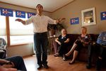 U.S. Rep. Joaquin Castro, D-San Antonio, speaks to a group of Hillary Clinton supporters at a morning campaign event held at the home of Mark and Sharon Naughton in Iowa City on Sunday, August 30, 2015. Castro was on the first of four campaign stops in Iowa.